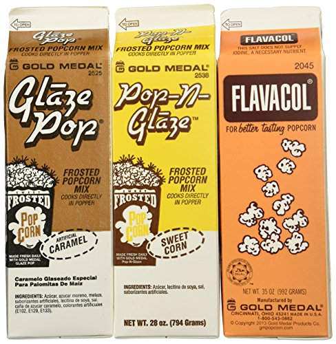 Flavacol Salt and Glaze Pop Flavoring 3 Pack