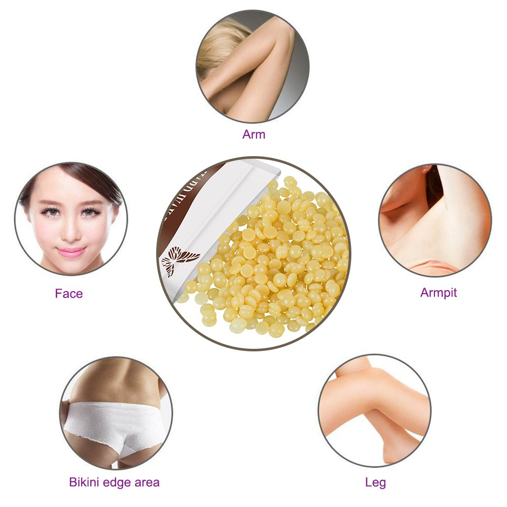 Natural Hard Wax Beans Hair Removal, Painless Bikini Waxing