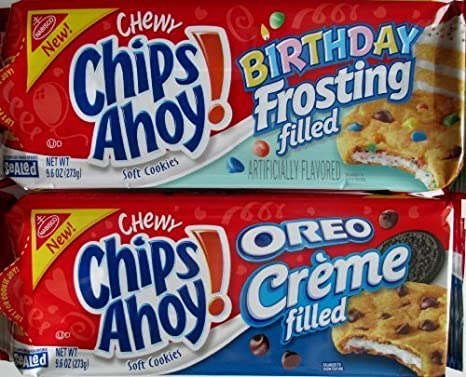 Tremendous New Chips Ahoy Oreo Creme And Birthday Frosting Filled Cookies Funny Birthday Cards Online Fluifree Goldxyz