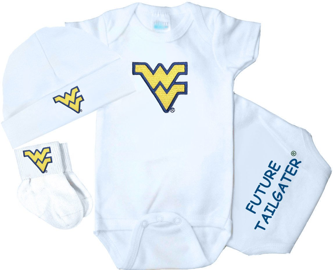 【送料関税無料】 West Virginia Mountaineers Three Pieceベビーギフトセット Mountaineers Three Newborn Virginia B018TOQH1O, 綾町:80396d5f --- a0267596.xsph.ru
