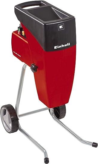 Einhell 3430620 Biotrituradora eléctrica silenciosa, 2000 W, 220 V, Negro, Rojo: Amazon.es: Bricolaje y herramientas