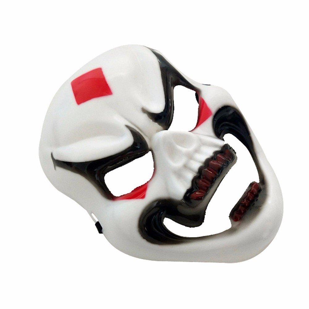 PromMask Mascara Facial Careta Protector de Cara dominó Frente Falso Halloween Cara Completa Horror máscara Fantasma Esqueleto máscara Persona Completa ...