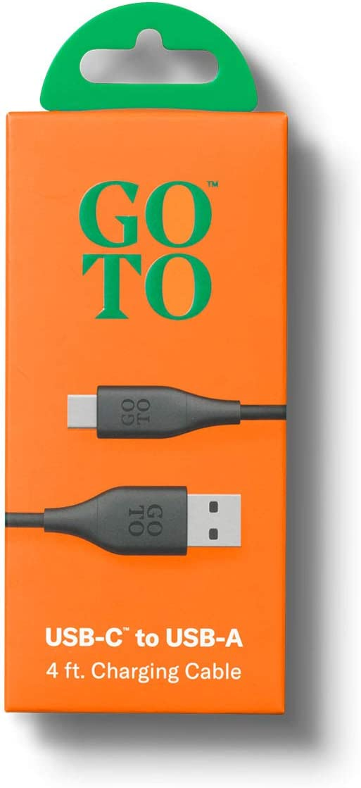 Tangle Free GoTo 4ft Charging Cable USB-A to USB-C Cable
