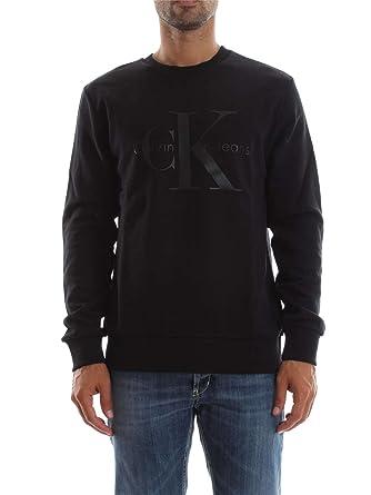 6d762744a02 CALVIN KLEIN J30J305954 HAWS SWEAT-SHIRT Homme BLACK XL  Amazon.fr ...