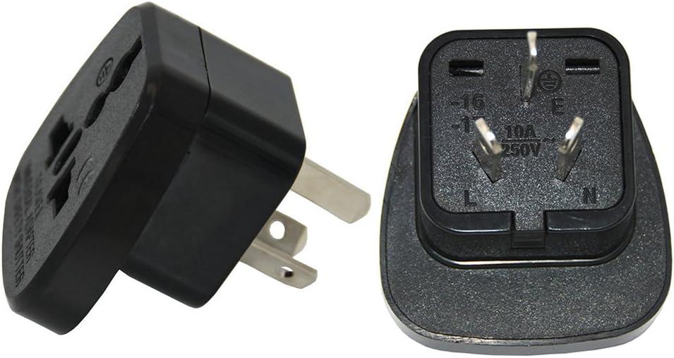 Adaptador de enchufe de Reino Unido a adaptador de China, Reino Unido a chino (Pack de 2): Amazon.es: Electrónica