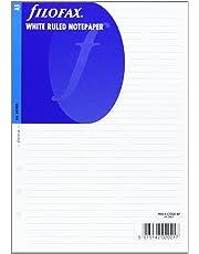 Filofax A5 White Ruled Notepaper Single (Refill)