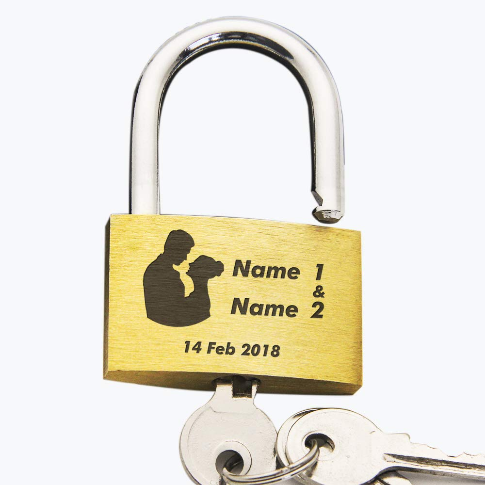 EDSG Personalised Engraved PadlockWedding | Annivesary Gift | Present Love Lock Comes in Gift Box Hand Finished in UK