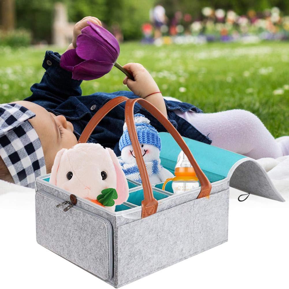 tidystore Baby Windel Caddy , 5 Fach S/äuglingskinderzimmer Tote Aufbewahrungsbeh/älter mit abnehmbarem Teiler Tragbare Auto Organizer Neugeborenen Dusche Geschenkkorb