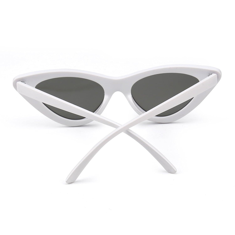 Jm Fashion Lunettes de Soleil Femme Œil de Chat Clout Goggles Lentille Teintée Plastique (Rouge/Gris) lCKHNDtVOu