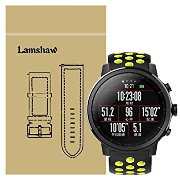 Ceston Deporte Silicona Clásico Correas Para Smartwatch Xiaomi Huami Amazfit Stratos (Negro + Verde)