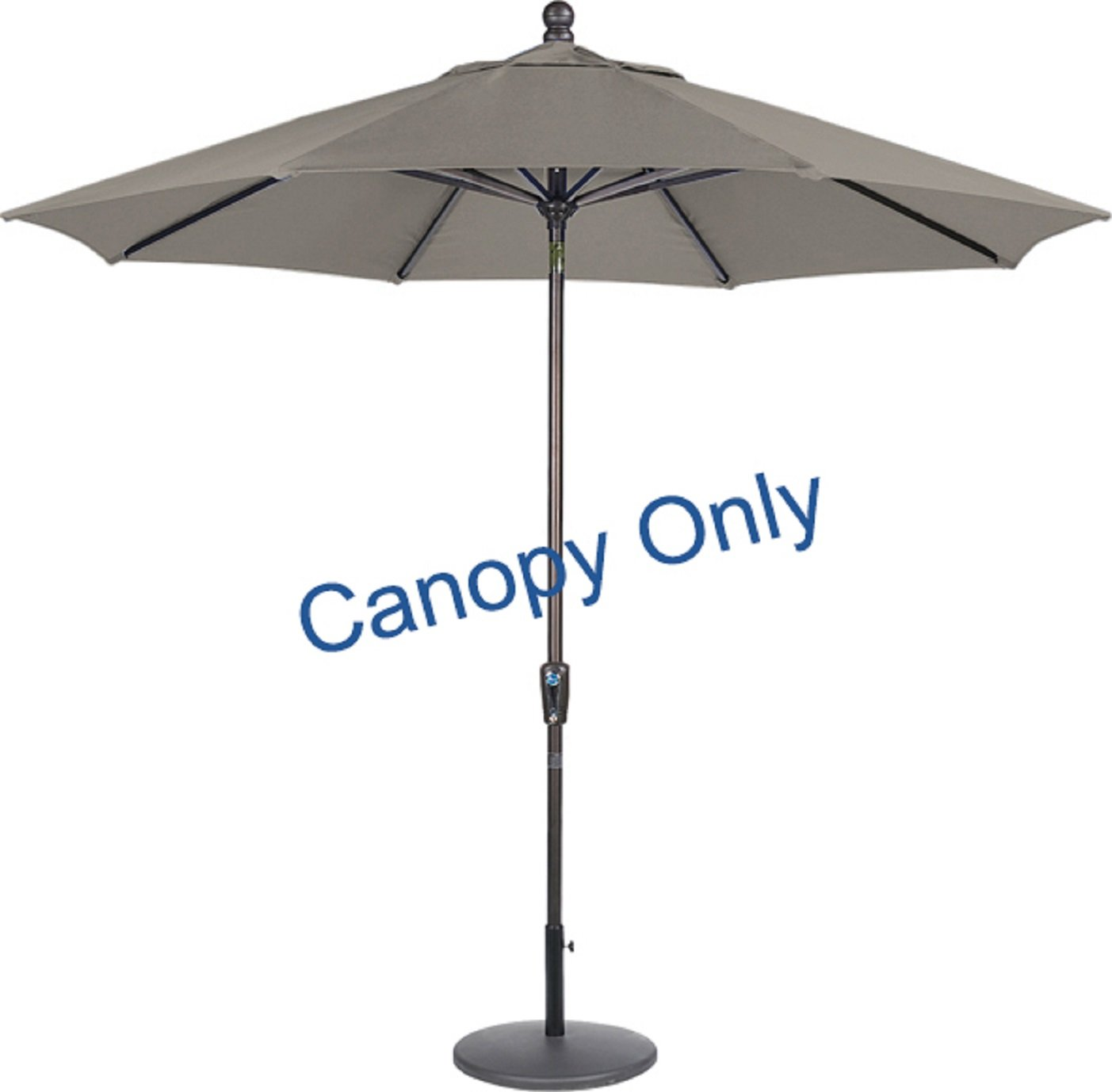 Galleon - 9ft 8 Ribs Market Umbrella Replacement Canopy (Sunbrella- Graphite)  sc 1 st  Galleon & Galleon - 9ft 8 Ribs Market Umbrella Replacement Canopy (Sunbrella ...