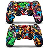 marvel skin decal - Vanknight Vinyl Decals Skin Stickers 2 Pack for PS4 Controllers Skin