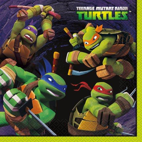 Teenage Mutant Ninja Turtles Party Napkins, (Halloween Costume Pizza Box)