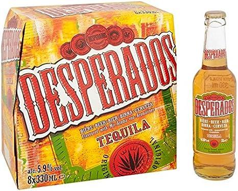 Desperados Tequila Beer Bottles 8 X 330ml Amazon Co Uk Beer Wine Spirits