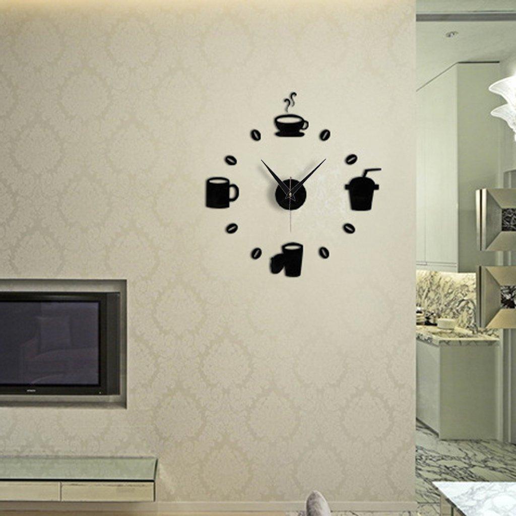 nalmatoionme schwarz DIY Moderne Zuhause ilent Armbanduhr Aufkleber ...