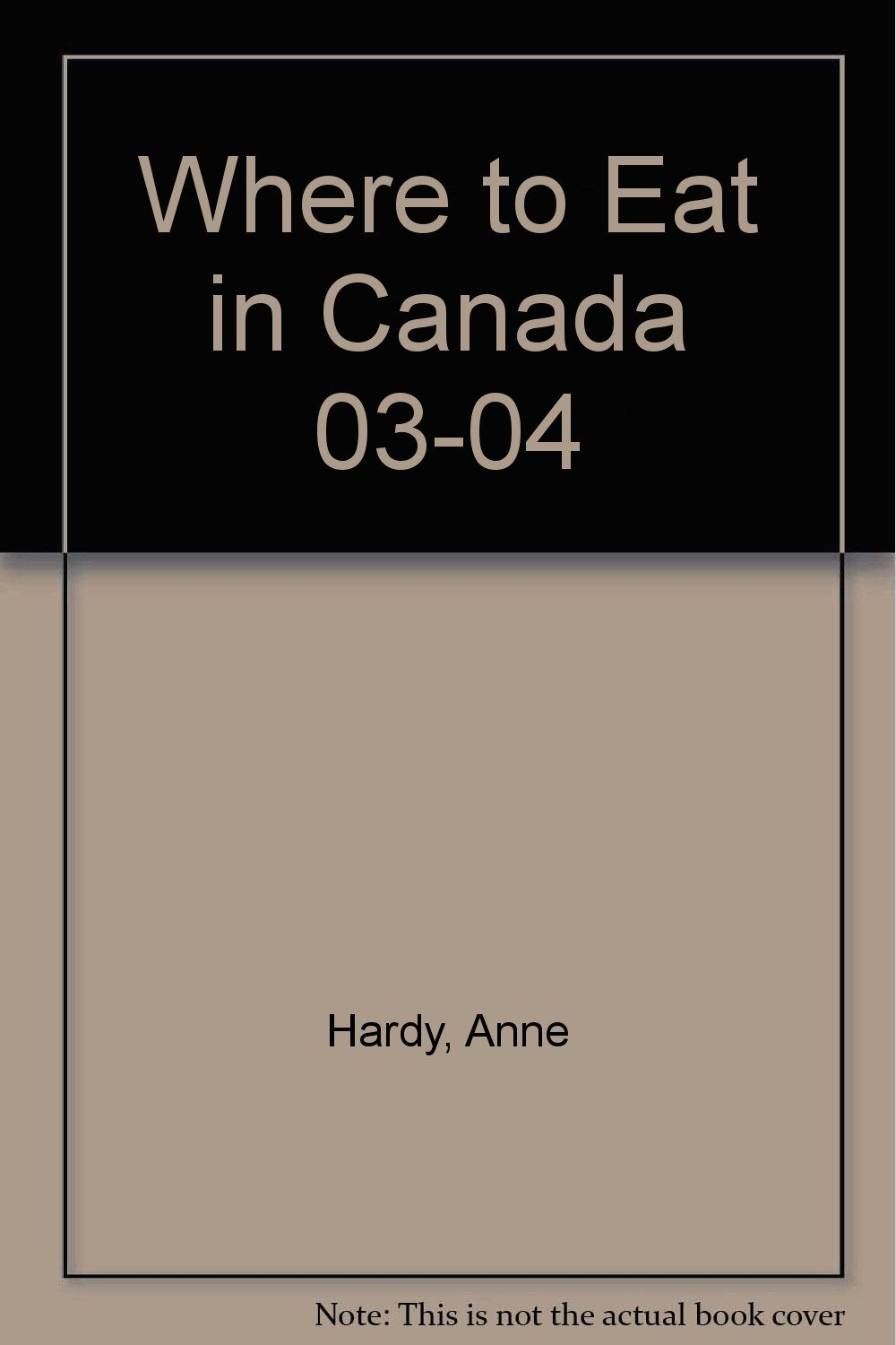 Download Where to Eat in Canada 03-04 ebook