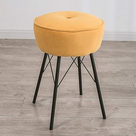 Magnificent Amazon Com Round Velvet Ottoman Desk Chair Mid Century Creativecarmelina Interior Chair Design Creativecarmelinacom