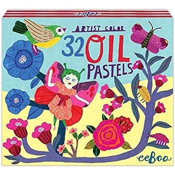 eeBoo Butterfly Fairy Oil Pastels, Set of 32