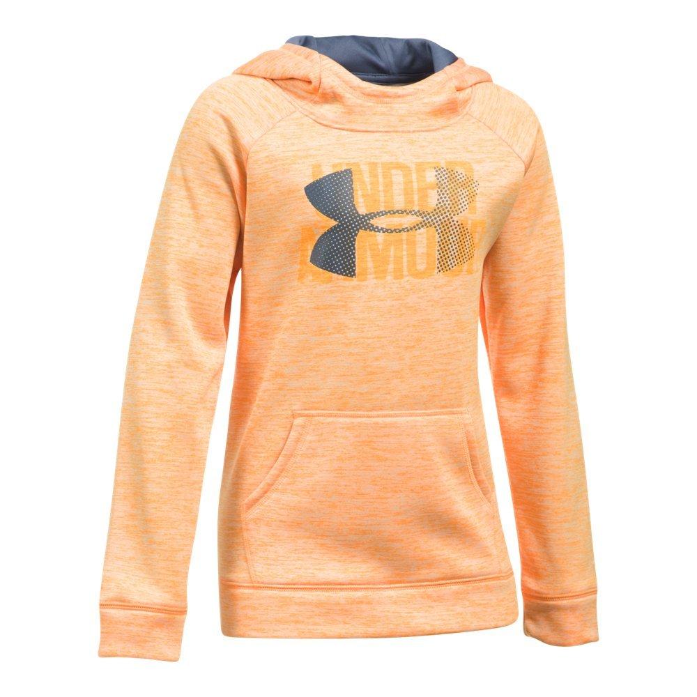 Girls Armour Fleece Highlight Novelty Hoodie, Orange Peel, Small / 8 Big Kids by Under Armour (Image #1)