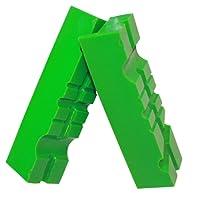 Magnetische Schraubstock-Schutzbacken GRIP&BENDER 100mm-125mm 60°/90° | Grüne Gummi-Schonbacken aus weichem TPU Kunststoff - Multi-Schutz