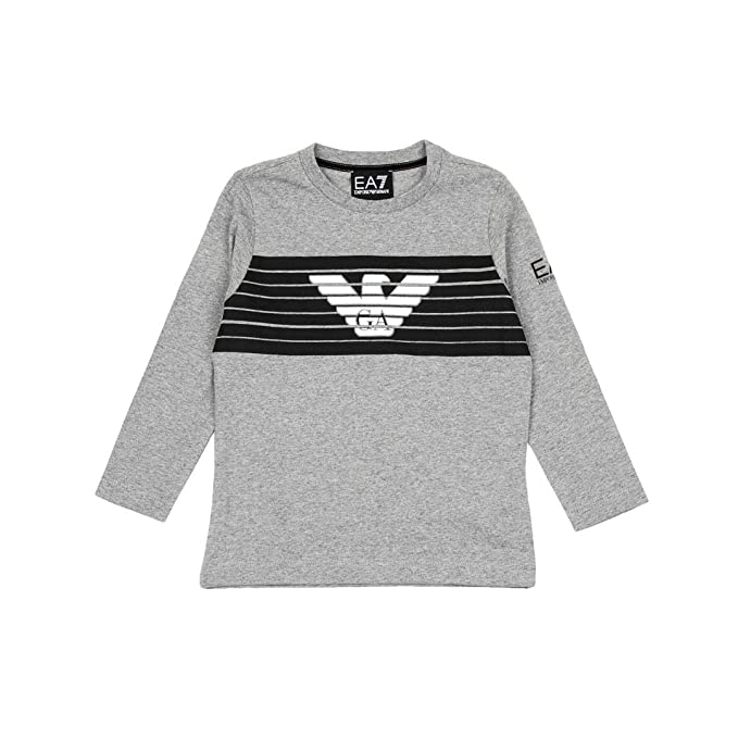 Armani Junior T-Shirt a Maniche Lunghe Bambino Kids Boy MOD. 6ZBT55   Amazon.it  Abbigliamento b076bbe8651