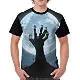 XS-XL INTERESTPRINT Childs T-Shirt Moon and Bats Halloween Night