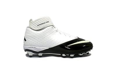Nike Lunar Super Bad Pro TD Football Cleats (10, White/Black)