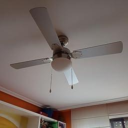 Cecotec Ventilador de Techo EnergySilence Aero 450. 106 cm de Di‡metro, Luz, 4 Aspas Reversibles, 3 Velocidades, Funci—n Invierno, 50W: Amazon.es: Hogar
