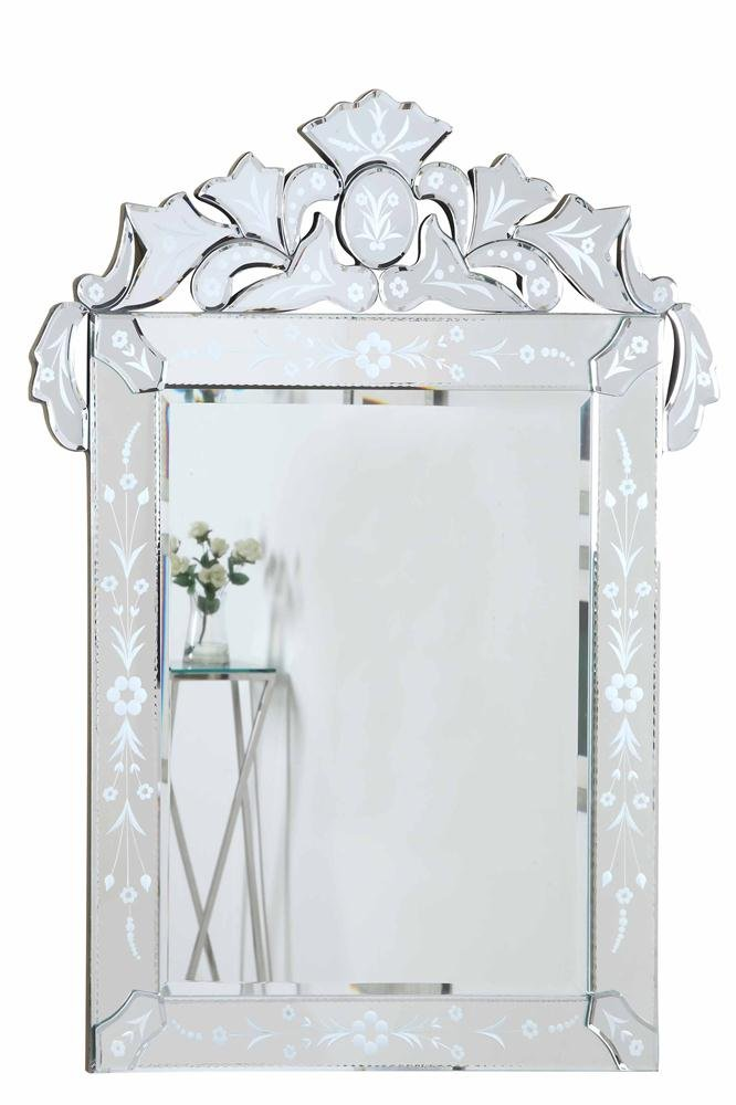 Decor Central ADMIR-6033C with MDF Frame Transitional Mirror 20.7 Clear Finish