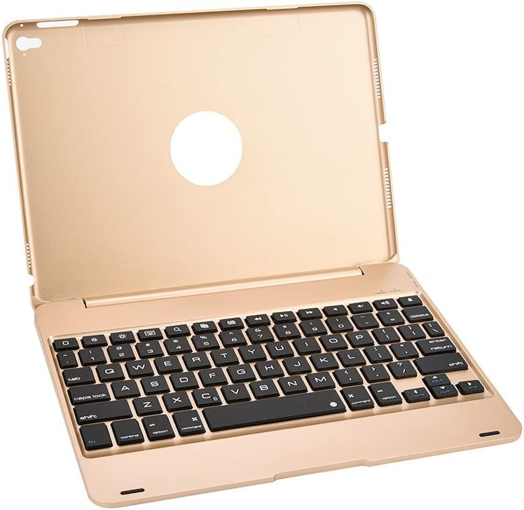 Gold Cloudro Bluetooth Keyboard Sleep Wake UP Cover Wireless Connect for iPad 9.7inch