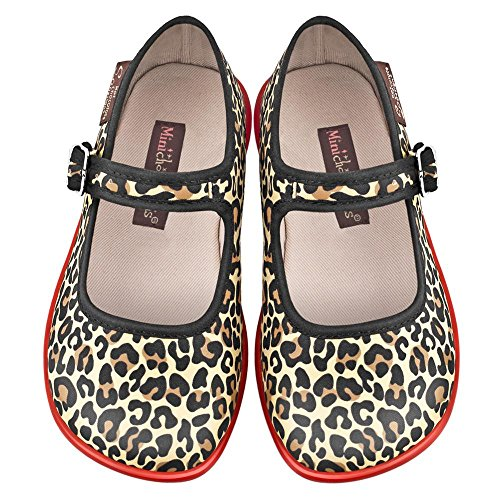 Hot Chocolate Design Mini Chocolaticas Leopard Girls Mary Jane Flat