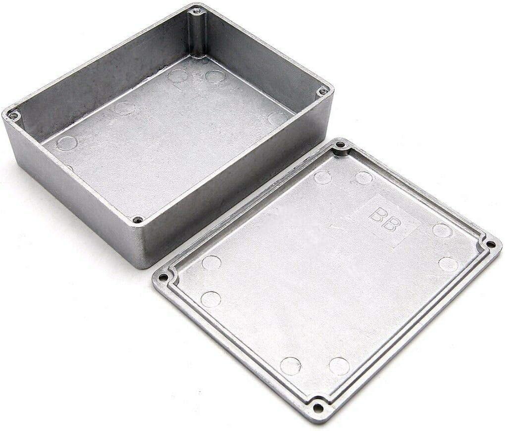 Bo/îte de jonction compl/ète avec connecteur argent 1 pi/èce Bo/îte de projet Be-Tool Boitier /électrique /étanche en aluminium moul/é sous pression id/éal pour une utilisation en ext/érieur