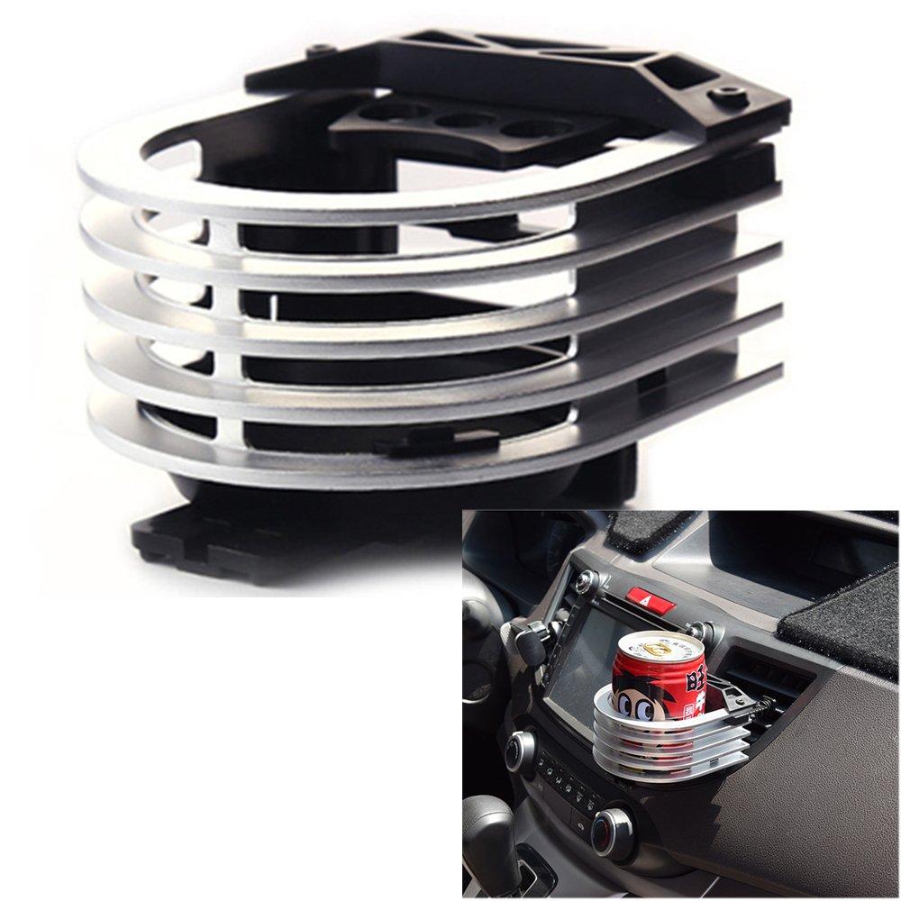 Langdy Aluminiumlegierung Verstellbare Autohalterung Getr/änkehalter f/ür Luftk/ühler//Liter Dosen//Kaffeetassen//Isolierflaschen Rosa Outlet Cup Holder Auto Outlet Drink Rack