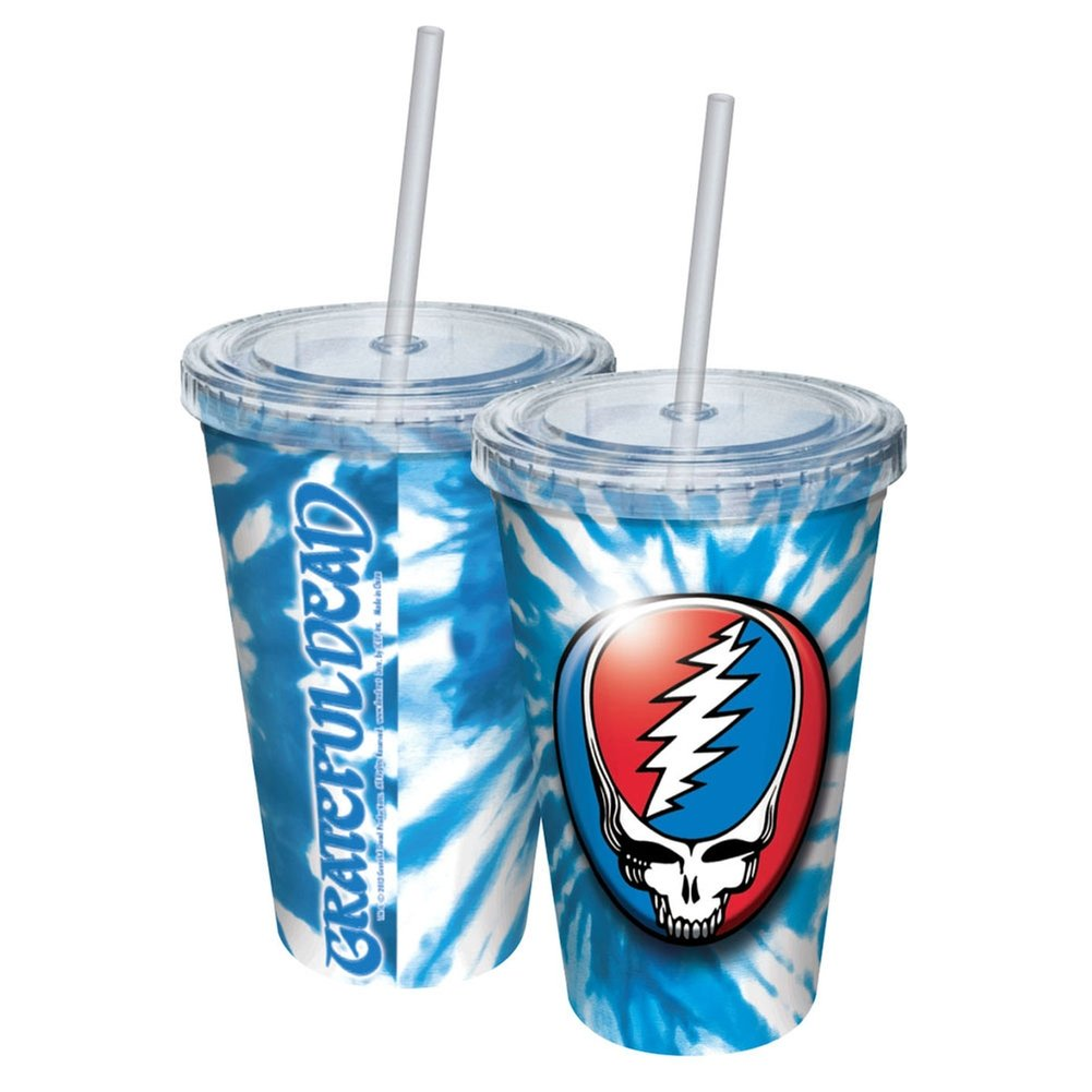 ICUP Grateful Dead Steal Tie-Dye Cup with Straw, Clear