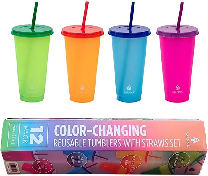 Color Changing Hot Cup I Manna To-Go Hot reusable cup White Elephant Secret Santa Corporate Employee Gift Personalized Hot coffee cup