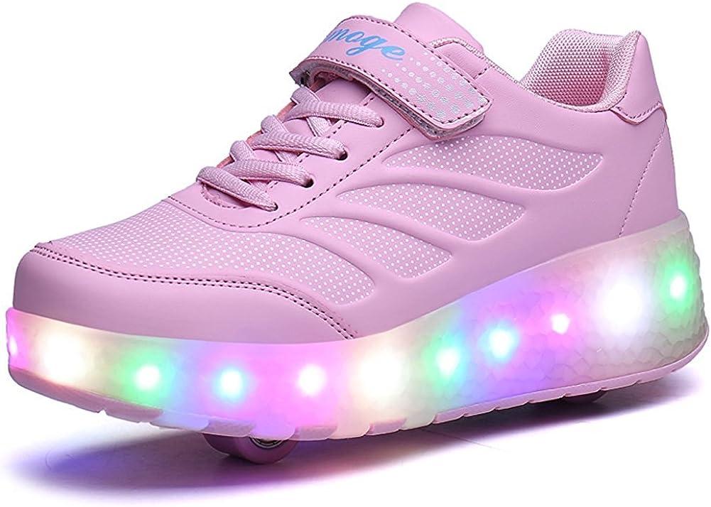 sexphd Kids Boy Girl LED Light Up Sneaker Athletic Shoe Dance USB Charge Walking Sneakers