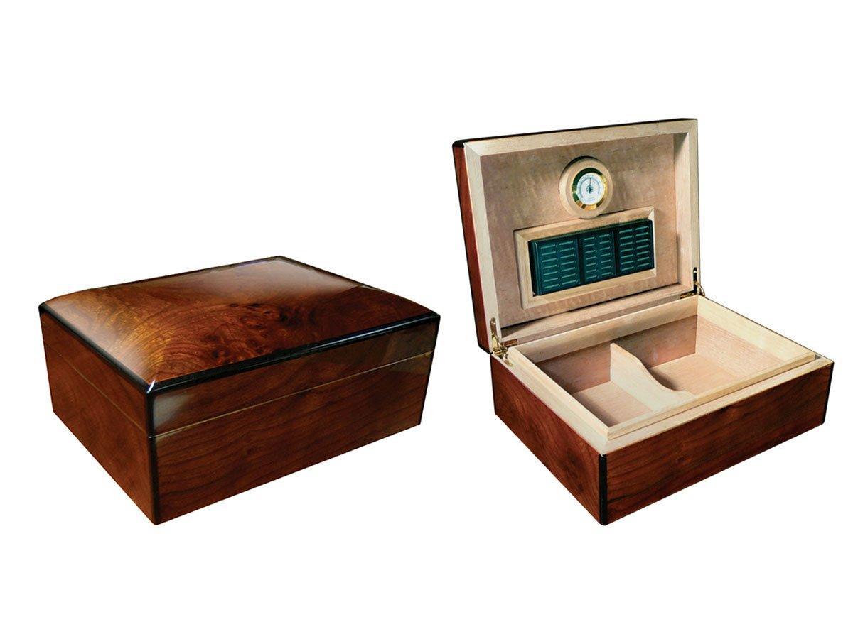 amazoncom prestige import group the bellevue high gloss authentic wood finish cigar humidor color mahogany home u0026 kitchen - Cigar Humidors