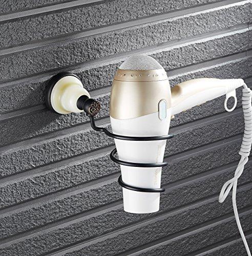 PLUMBAGO HOME Natural Jade Base Hair Dryer Holder, Wall M...