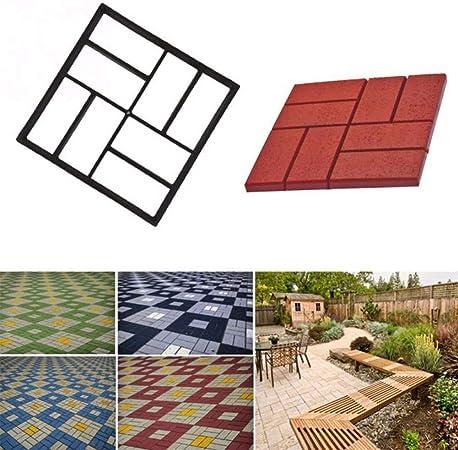 YLYP Moldes de hormigón de jardín, para Bricolaje moldes de plástico para moldes de pavimento, adoquines de Cemento, moldes de Ladrillos, moldes de hormigón de Stone Road (Color : B:40x40x4cm): Amazon.es: Hogar