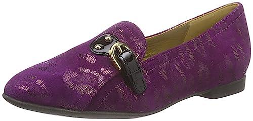 Geox Ritva, Mocasines Clásicos Mujer, Morado Oscuro / Negro, EU 35: Amazon.es: Zapatos y complementos