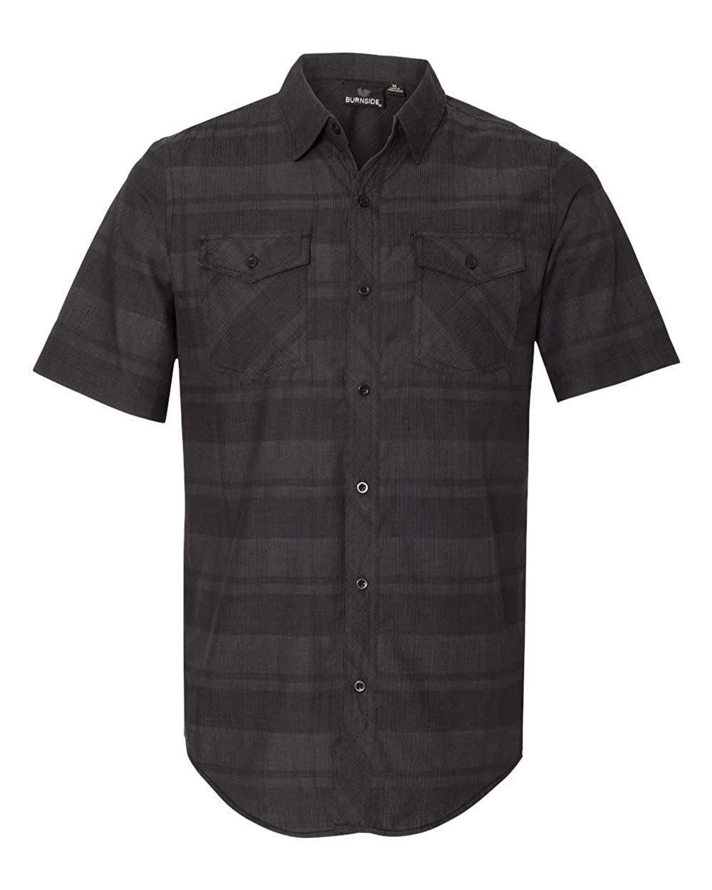 Burnside Mens Plaid Short Sleeve Shirt 9202