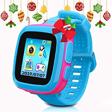 Kids Game Smartwatch Digital Smart Watches Photo Sticker Camera Mini Games Alarm Clock Timer Health Monitor Pedometer Birthday Gifts for Boys and ...