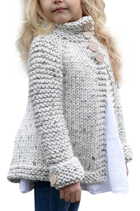 Weixinbuy Baby Girls Long Sleeve Scalloped Edge Basic Cotton Cardigan Coat Outwear Clothes