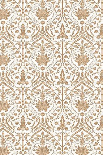 Damask Wallpaper Patterns (Journal White Kraft Damask Design Pattern: (Notebook, Diary, Blank Book) (Design Patterns Journals Notebooks Diaries))