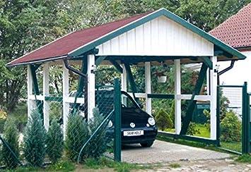 Skan Wood Carport Black Forest 424 X 772 Cm Amazon Co Uk