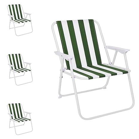 Mojawo - Juego de 4 sillas Plegables para Acampada, diseño ...