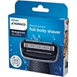 Philips Norelco BG2000/40 Replacement Trimmer/Shaver Foil Head For Boodygroom Range BG2020 to BG2030 - (2 count)