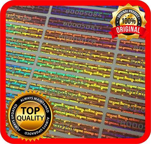 (100 pcs Warranty Seals, Security Hologram Stickers, Void Tamper evident Holographic Labels 1.89 x .29 Inch)