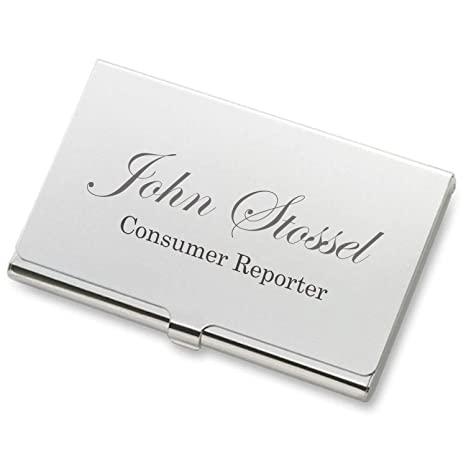 online retailer f5d06 89e5f Personalized Silver Business Card Case Holder Engraved Free