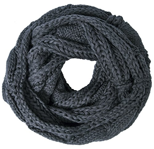 Review Loritta Womens Winter Warm Ribbed Thick Knit Infinity Scarf Circle Loop Cowl Scarf